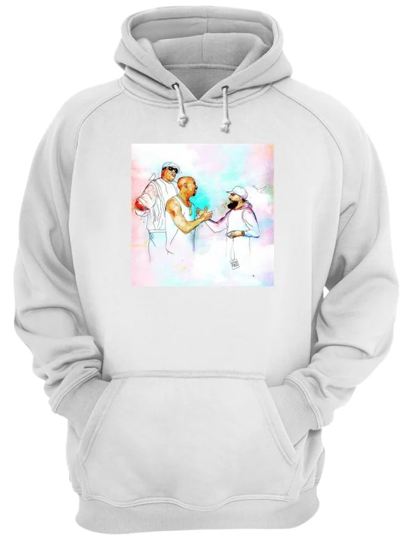 2Pac feat Nipsey Hussle and B I G in heaven hoodie