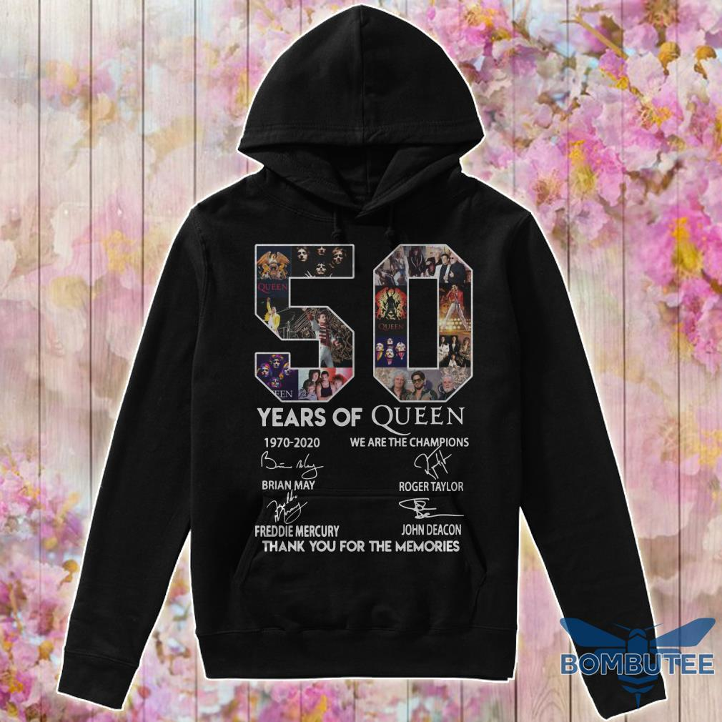 50 Year Of Queen We Are The Champions Thank You For The Memories hoodie