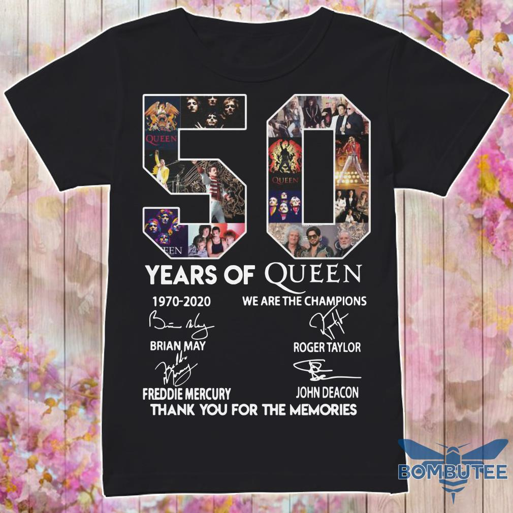 50 Year Of Queen We Are The Champions Thank You For The Memories shirt