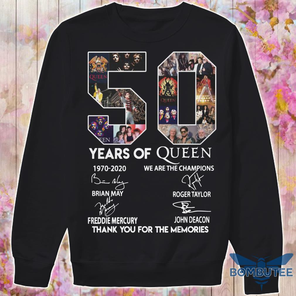 50 Year Of Queen We Are The Champions Thank You For The Memories sweater
