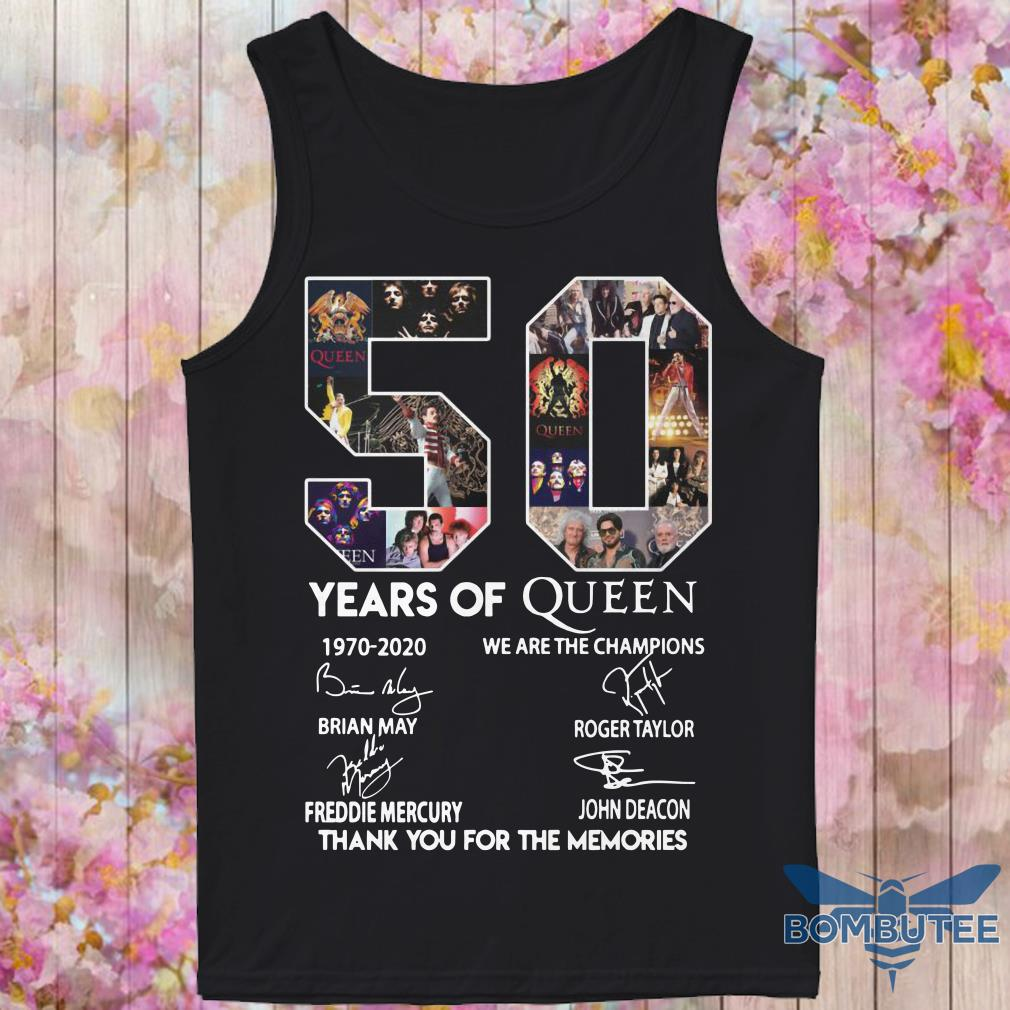 50 Year Of Queen We Are The Champions Thank You For The Memories tank top