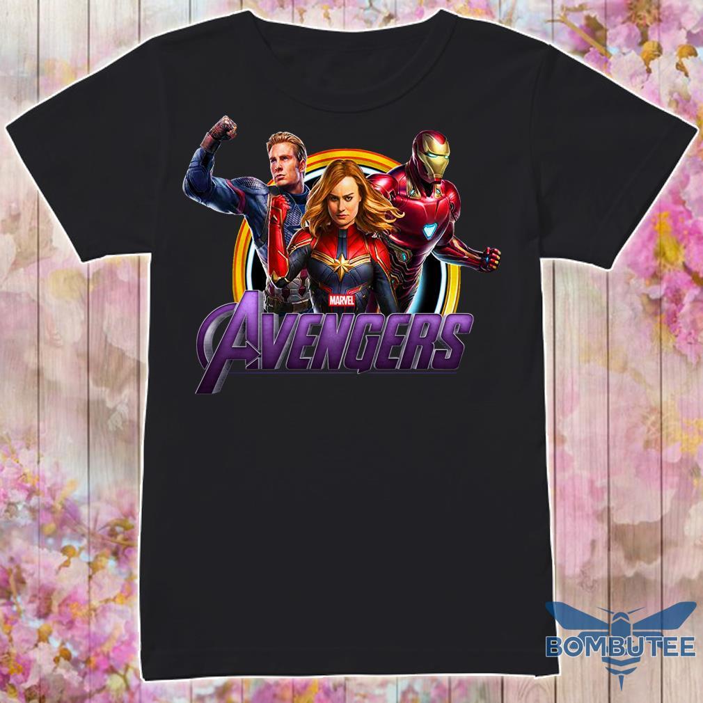 Avenger Endgame Captain Marvel, Iron Man And Captain America Shirt
