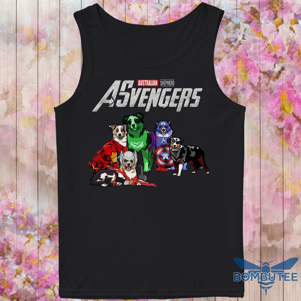 Avengers EndGame Australian Shepherd Dog Version tank top