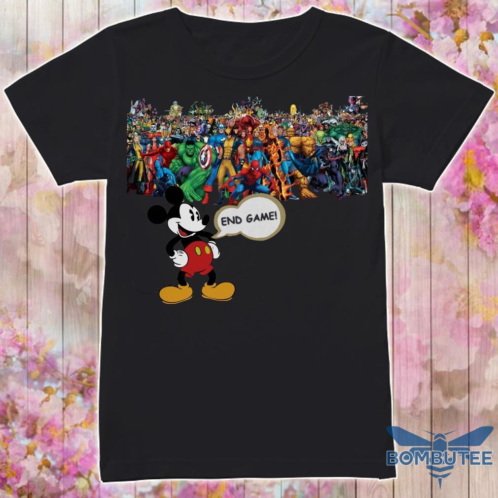 Endgame Mickey mouse vs avenger marvel shirt