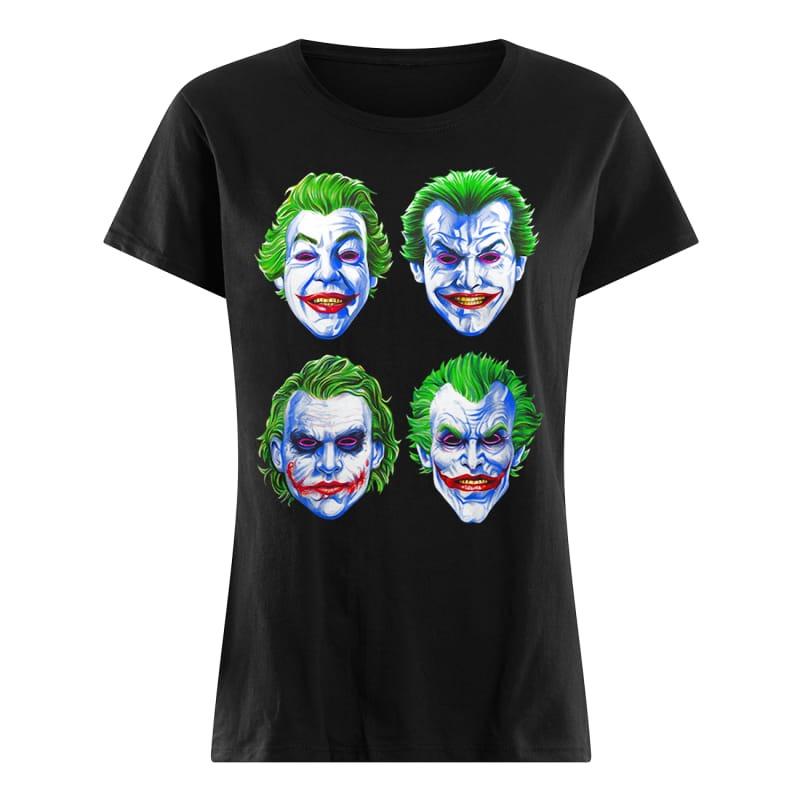 Joker Faces of Insanity ladies tee