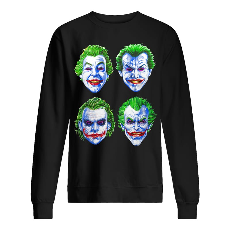 Joker Faces of Insanity sweater