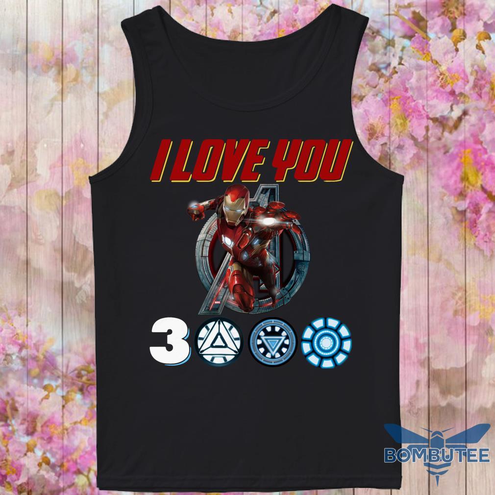 I Love you Ironman 3000 tank top