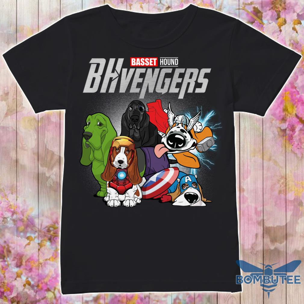 Marvel Superheroes BHvengers Basset Hound Dog shirt