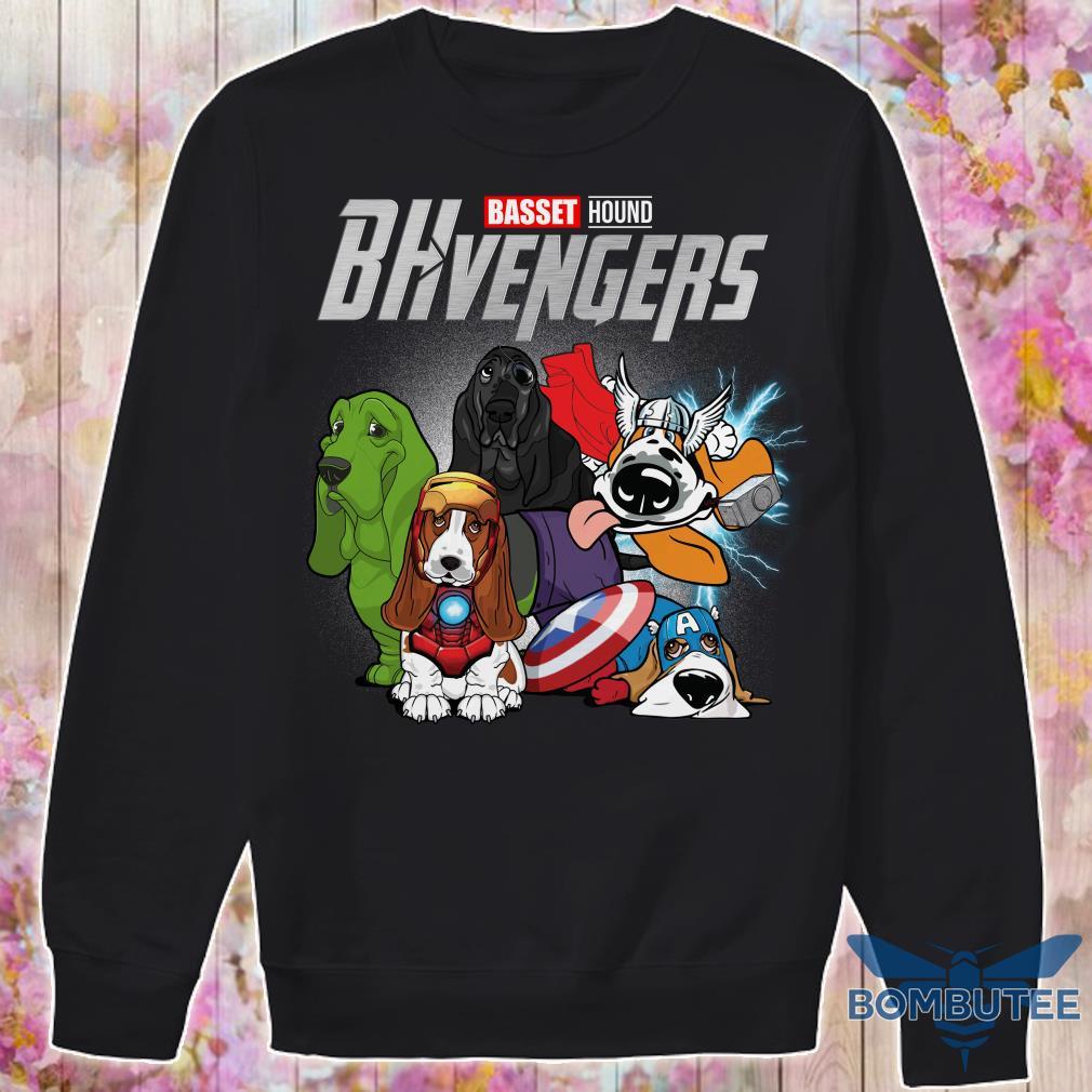 Marvel Superheroes BHvengers Basset Hound Dog sweater