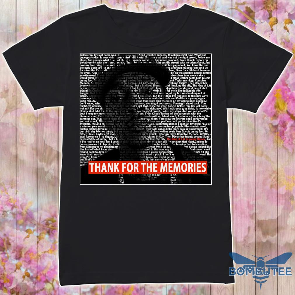 RIP Nipsey The Marathon Thank For The Memories shirt