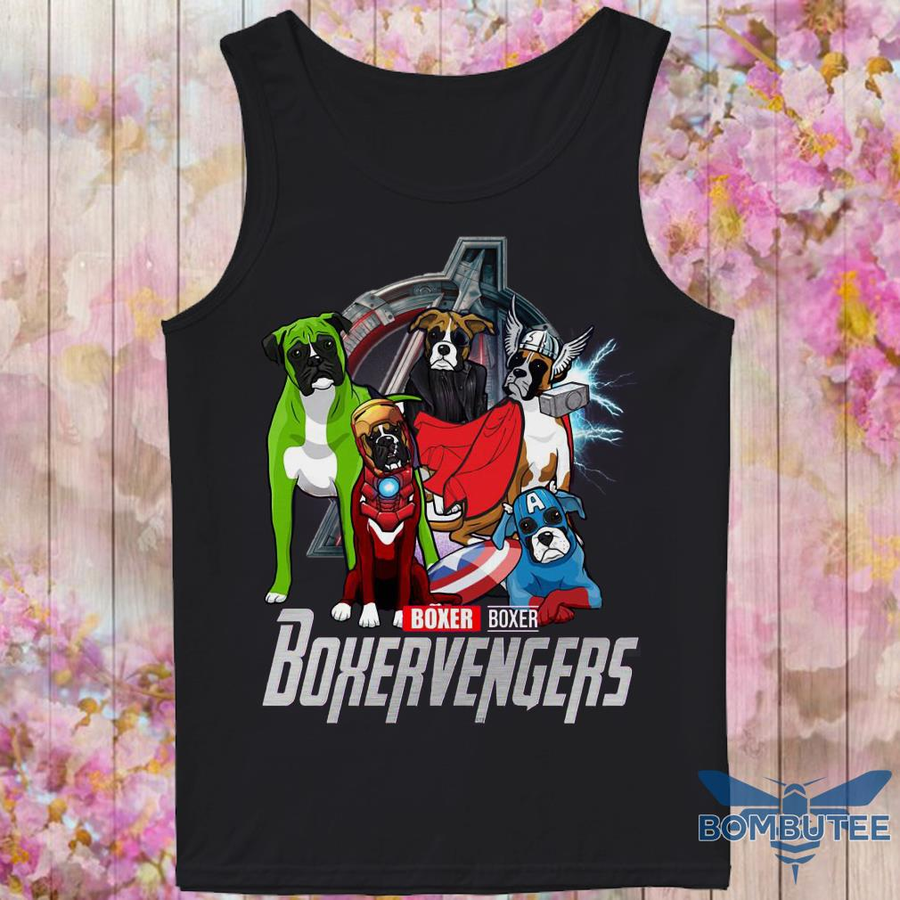 Super Heroes Boxer Boxervengers tank top