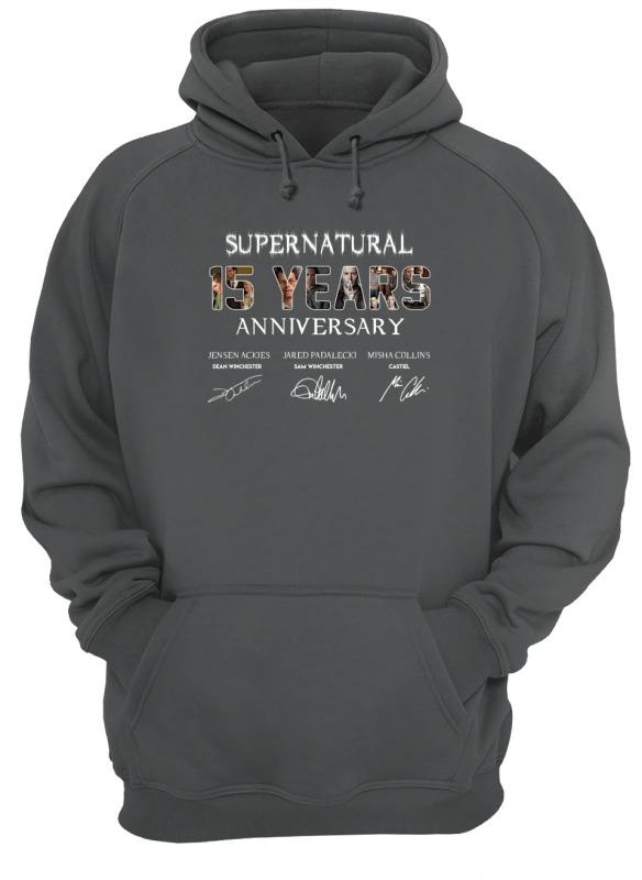 SuperNatural 15 years anniversary hoodie