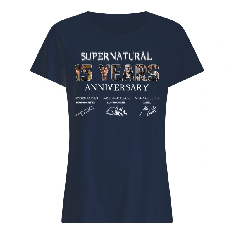 SuperNatural 15 years anniversary ladies tee