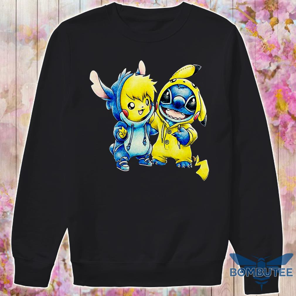 eee8c2972790 Baby Pikachu And Baby Stitch Shirt, hoodie, tank top and sweater