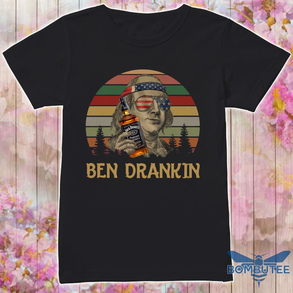 Ben Drankin Jack Daniels 4th Of July Sunset Shirt