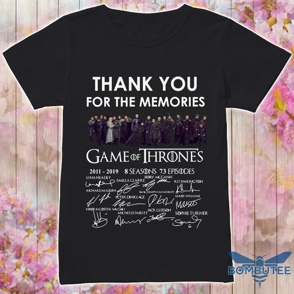 GOT Poster Thank you for the Memories signature shirt
