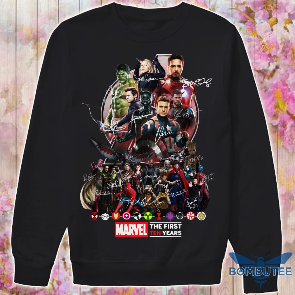 Marvel Avengers Endgame The First Ten years sweater