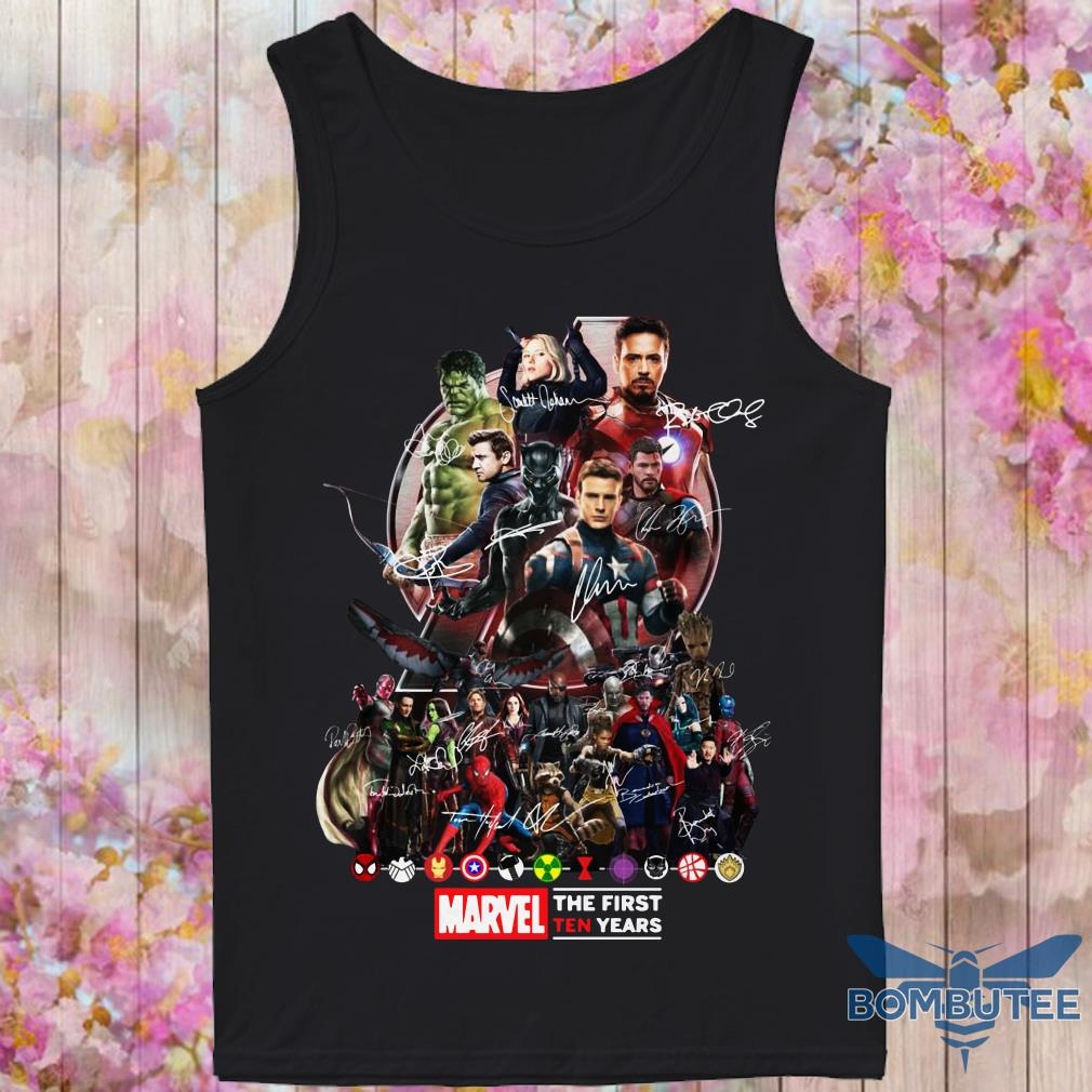 Marvel Avengers Endgame The First Ten years tank top