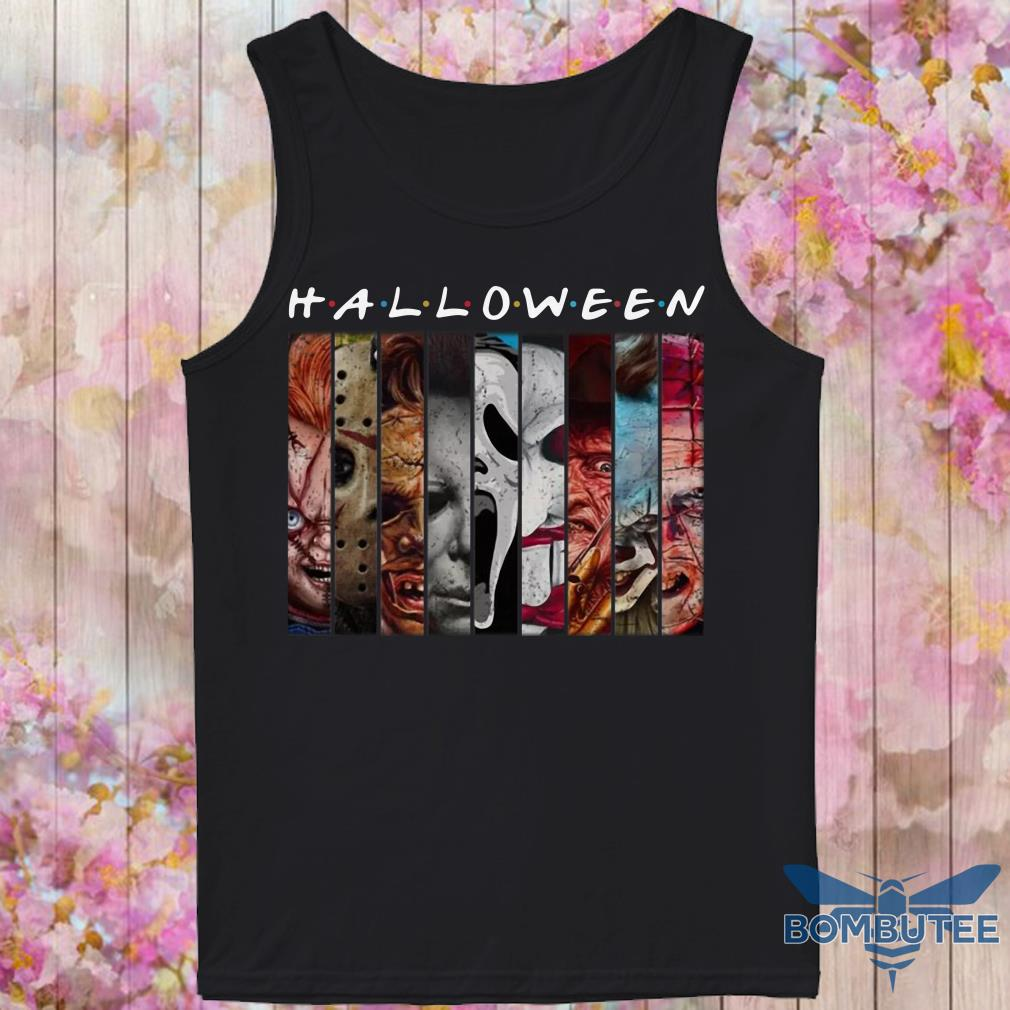 Halloween Horror Characters Friends Mashup face tank top