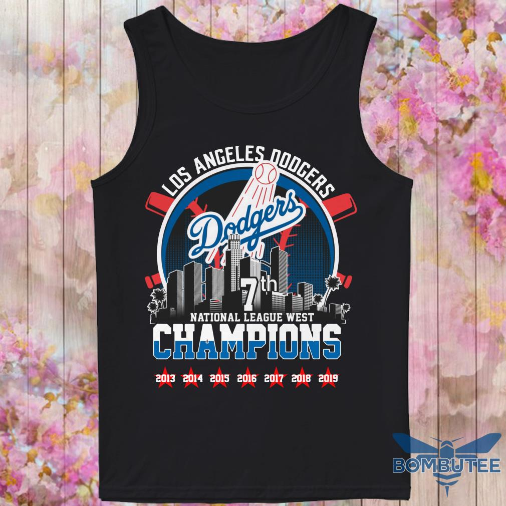 Los Angeles Dodgers 7th national League west champion tank top