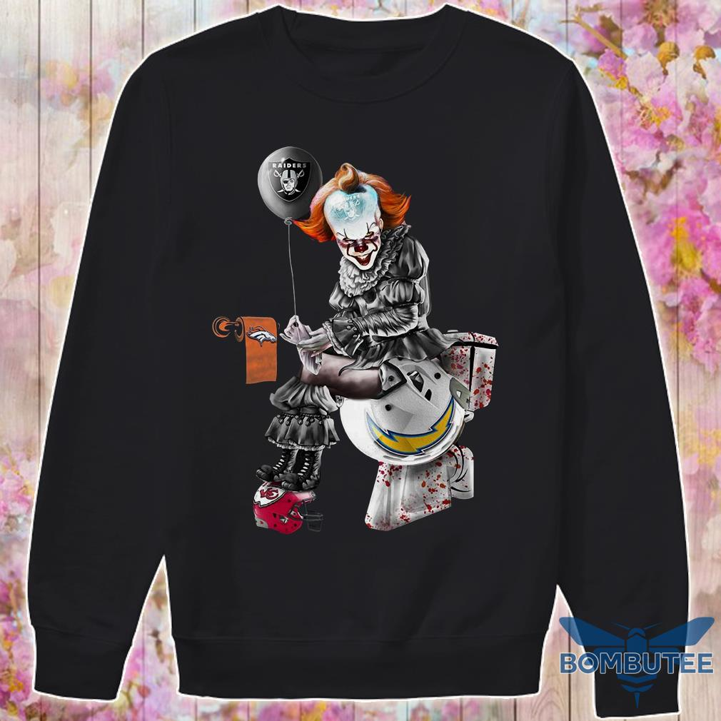 Oakland Raiders Carolina Panthers New Orleans Saints Pennywise toilet sweater