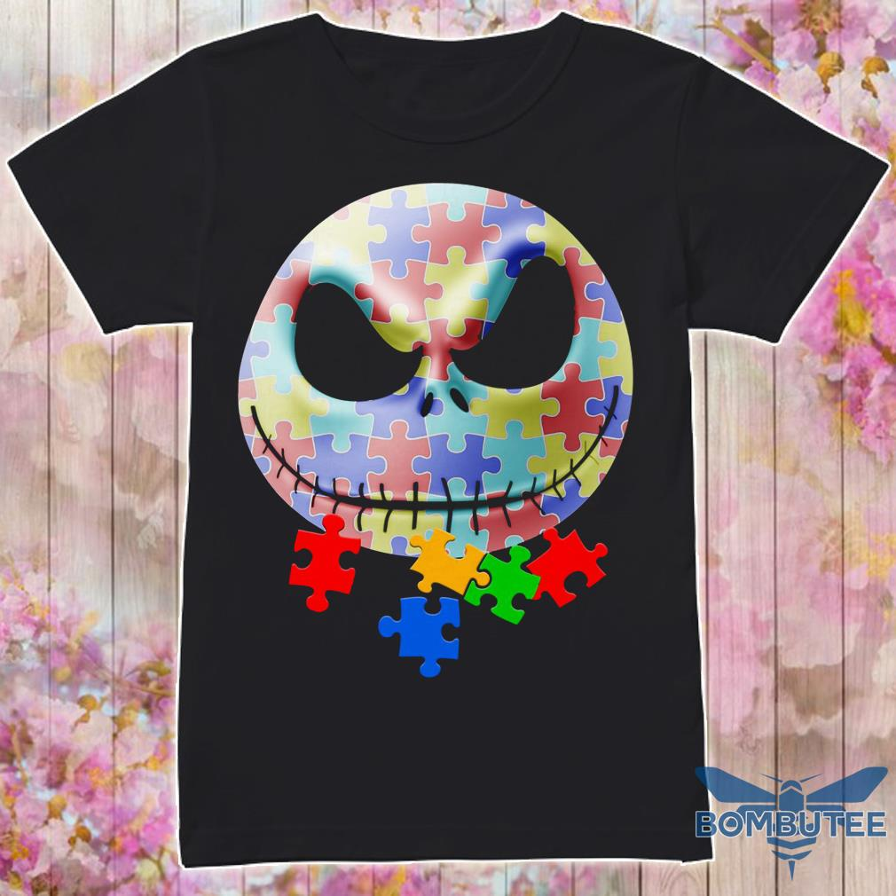 Autism Jack Skellington Face Shirt