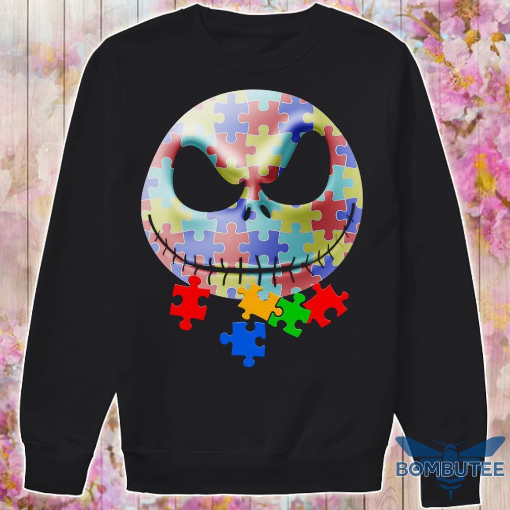 Autism Jack Skellington Face sweater