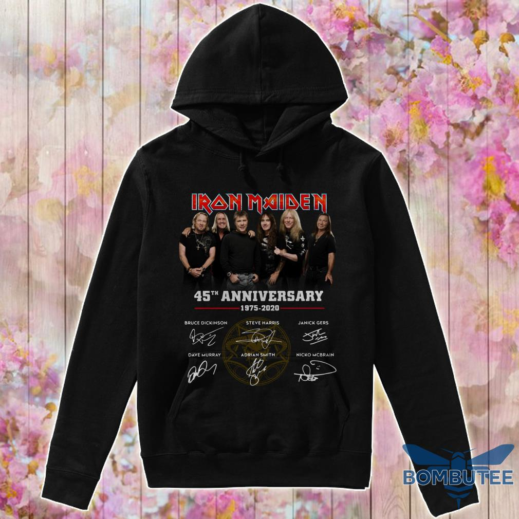 Characters Iron Maiden 45th Anniversary 1975-2020 signatures hoodie