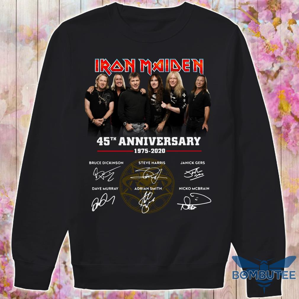 Characters Iron Maiden 45th Anniversary 1975-2020 signatures sweater