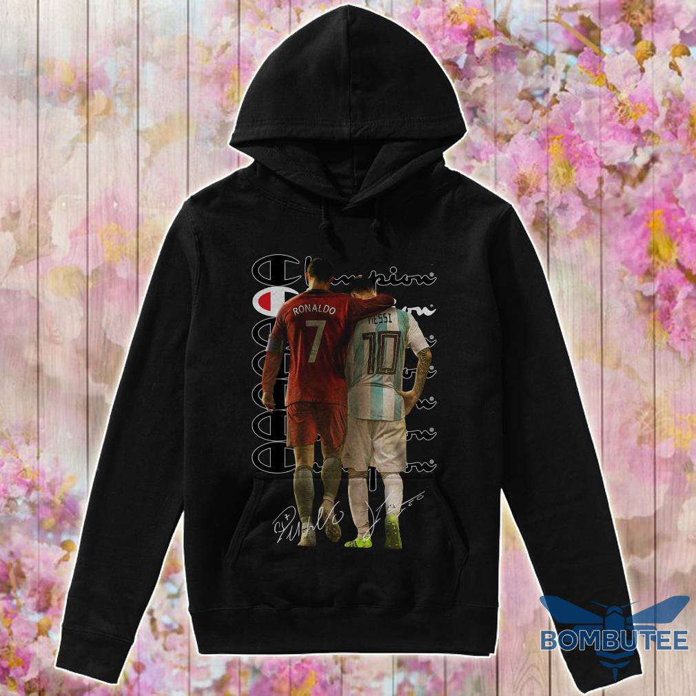 Ronaldo and Messi Champion Signatures hoodie