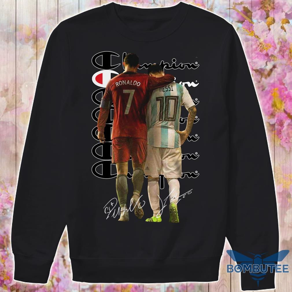 Ronaldo and Messi Champion Signatures sweater