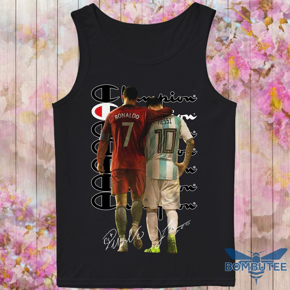 Ronaldo and Messi Champion Signatures tank top