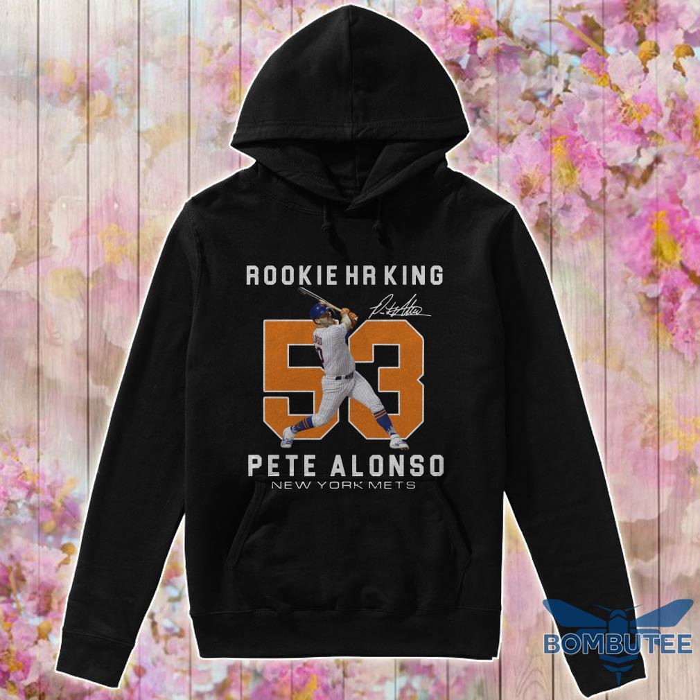 Rookie HR King 53 Pete Alonso New York Mets Signature hoodie