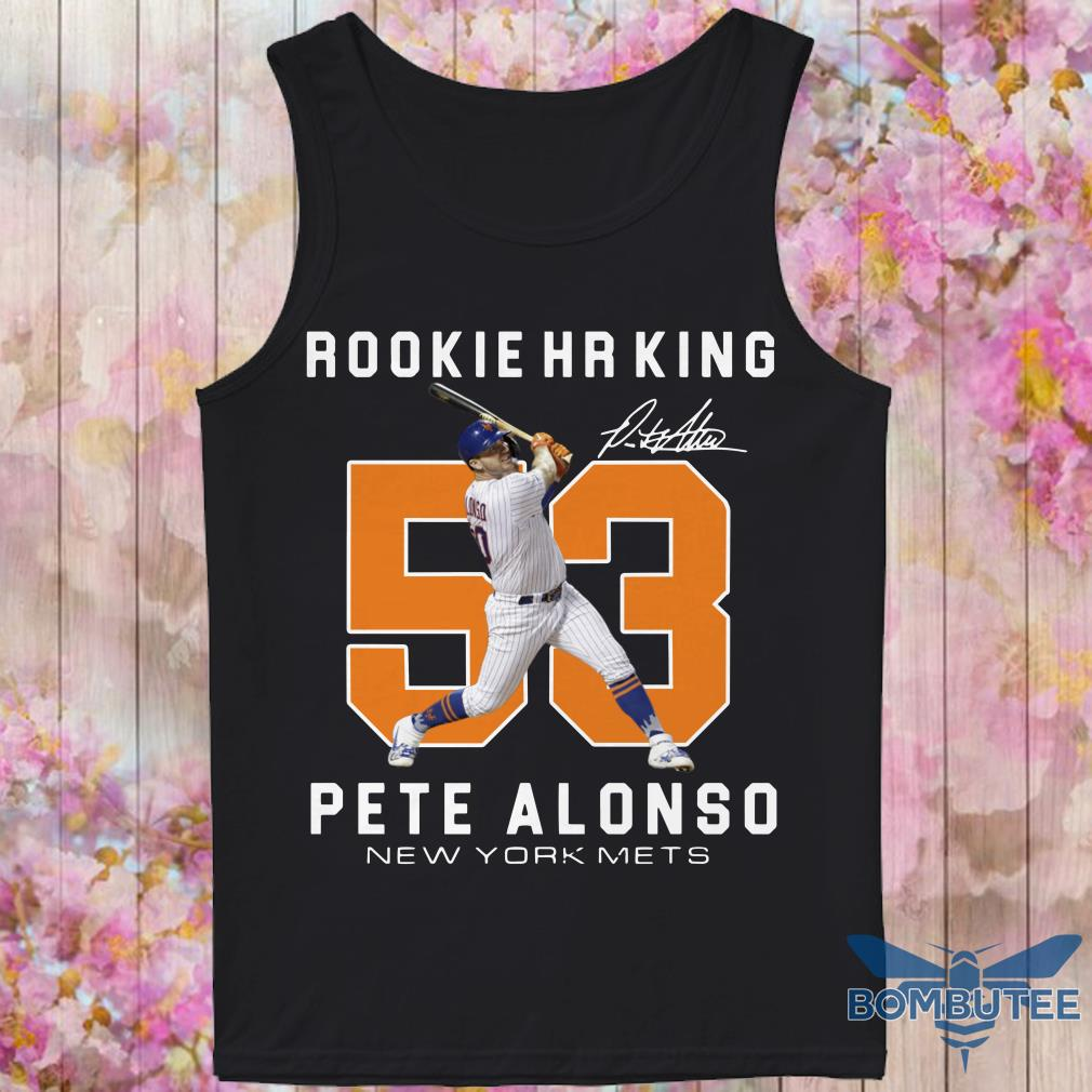 Rookie HR King 53 Pete Alonso New York Mets Signature tank top