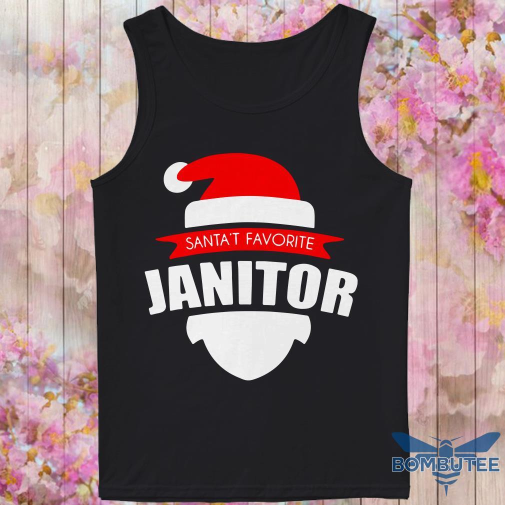 Santa's Favorite Janitor Christmas tank top