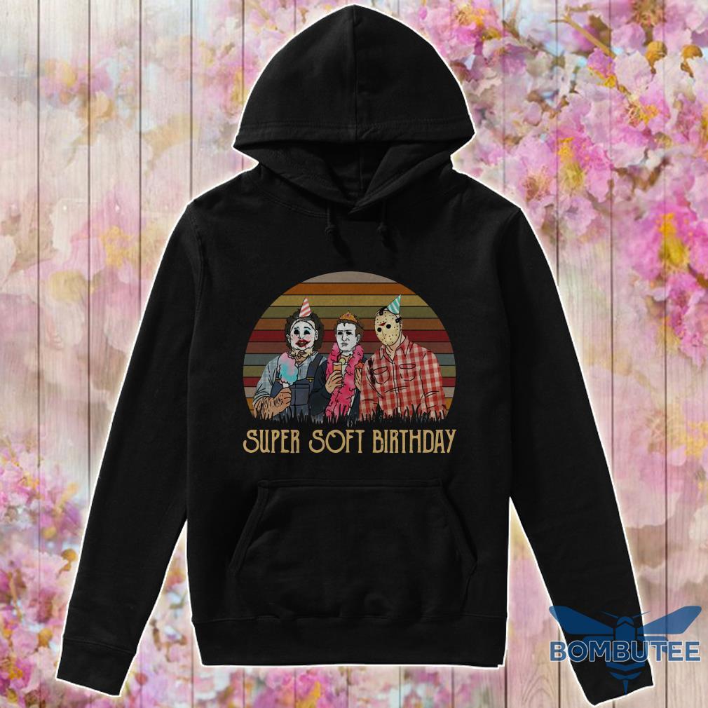 Vintage Horror Movie Characters Super Soft Birthday hoodie
