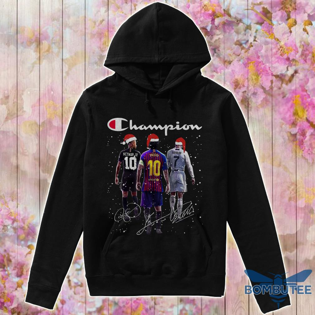 Champion Santa Neymar Jr Messi And Ronaldo Christmas hoodie