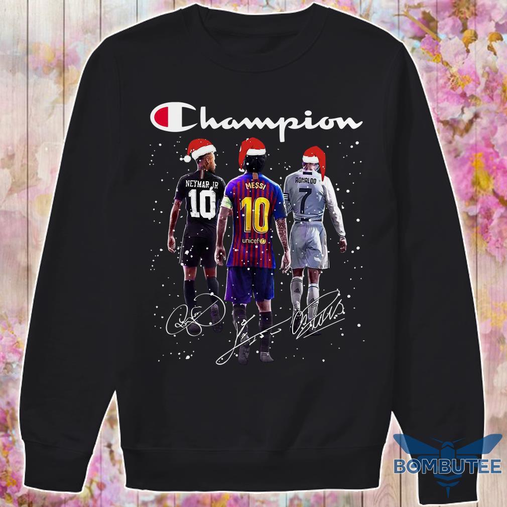 Champion Santa Neymar Jr Messi And Ronaldo Christmas sweater