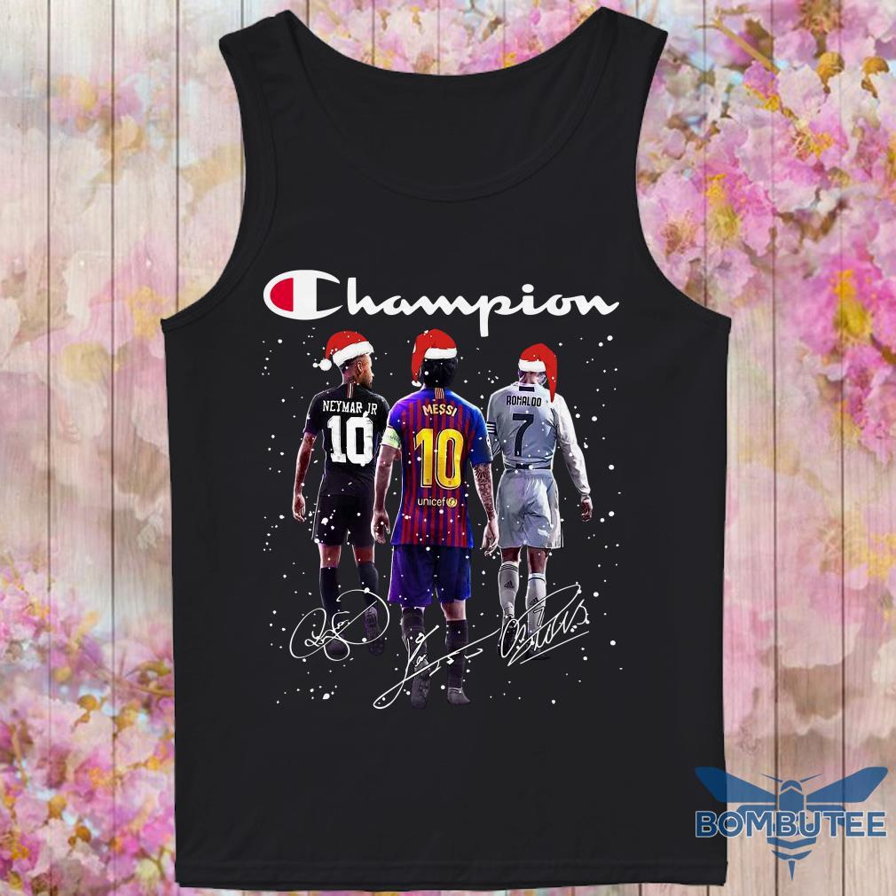 Champion Santa Neymar Jr Messi And Ronaldo Christmas tank top