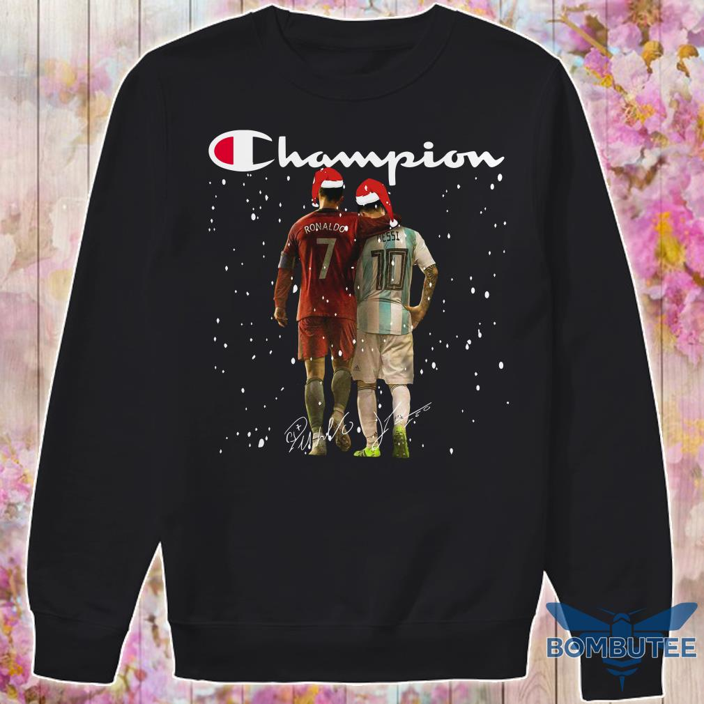 Champion Santa Ronaldo And Messi Christmas sweater