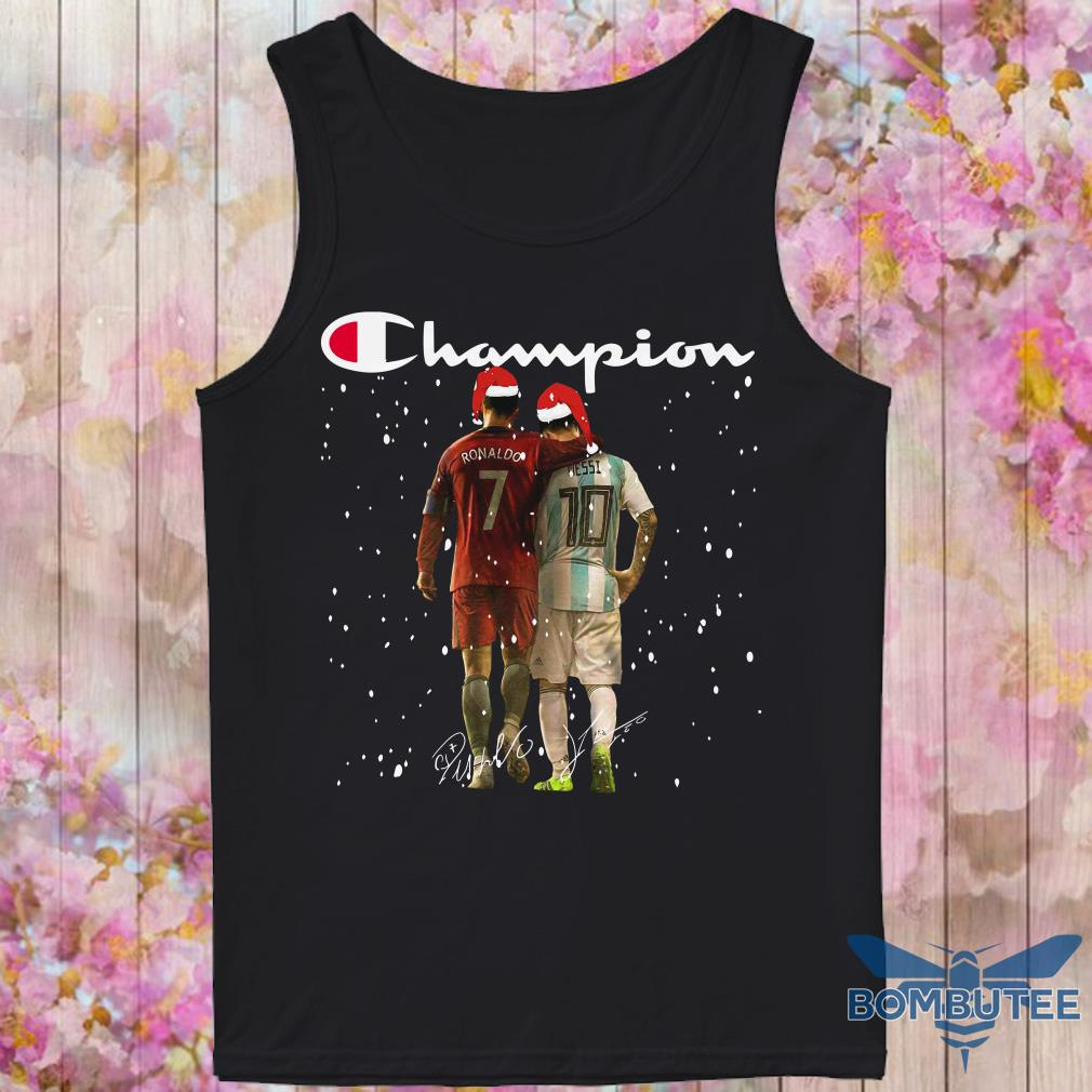 Champion Santa Ronaldo And Messi Christmas tank top