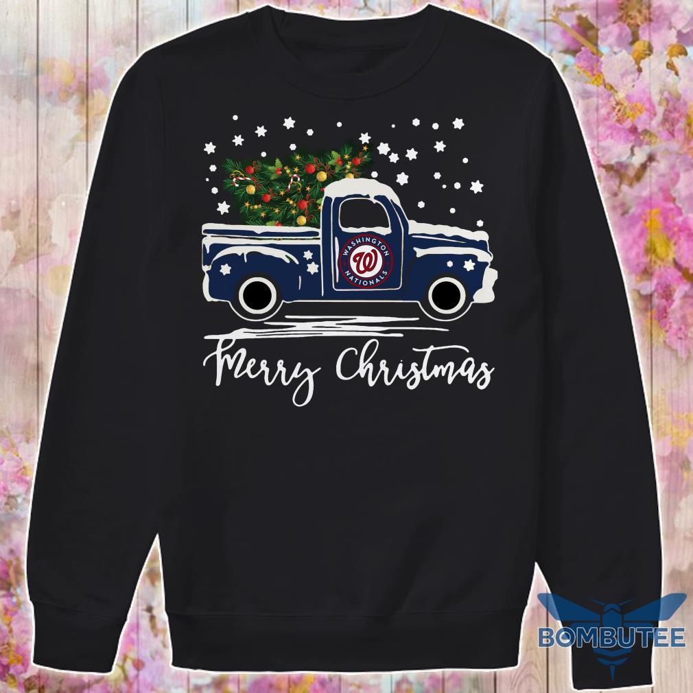 Washington Nationals pickup truck Merry Christmas sweater