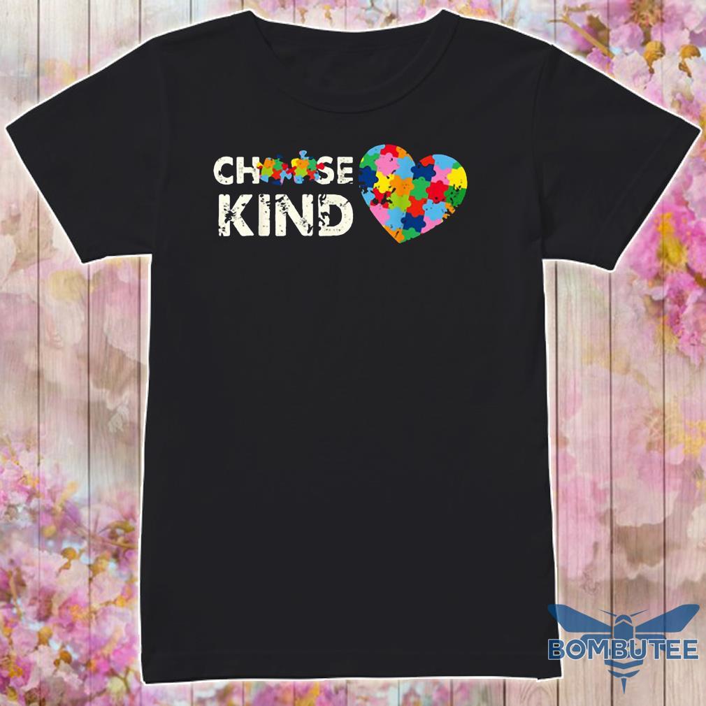 Choose Kind Autism Awareness Month Costume Puzzle Ribbon Shirt