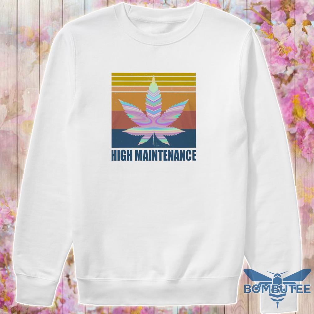 Cannabis High Maintenance vintage s -sweater