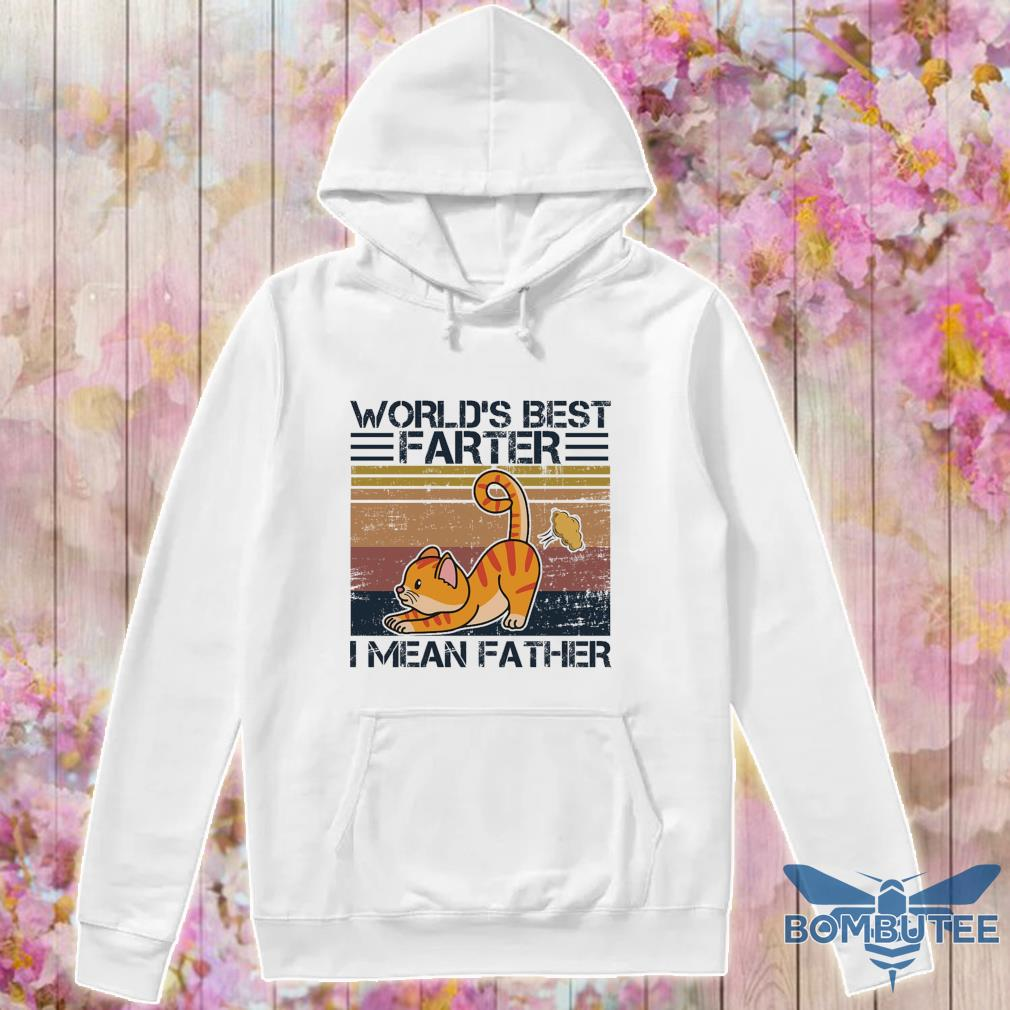 Cat World's best Farter I mean Father vintage s -hoodie