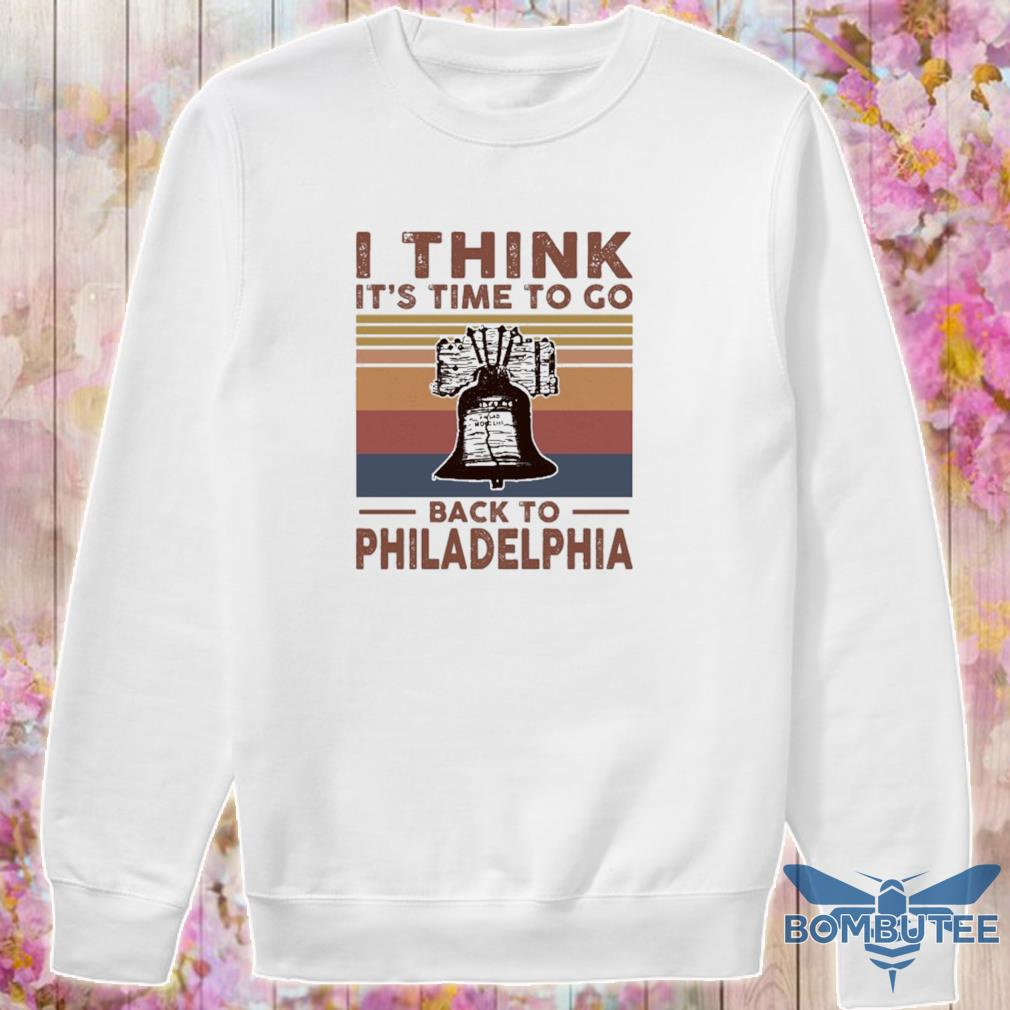 I think it's time to go back to Philadelphia vintage s -sweater