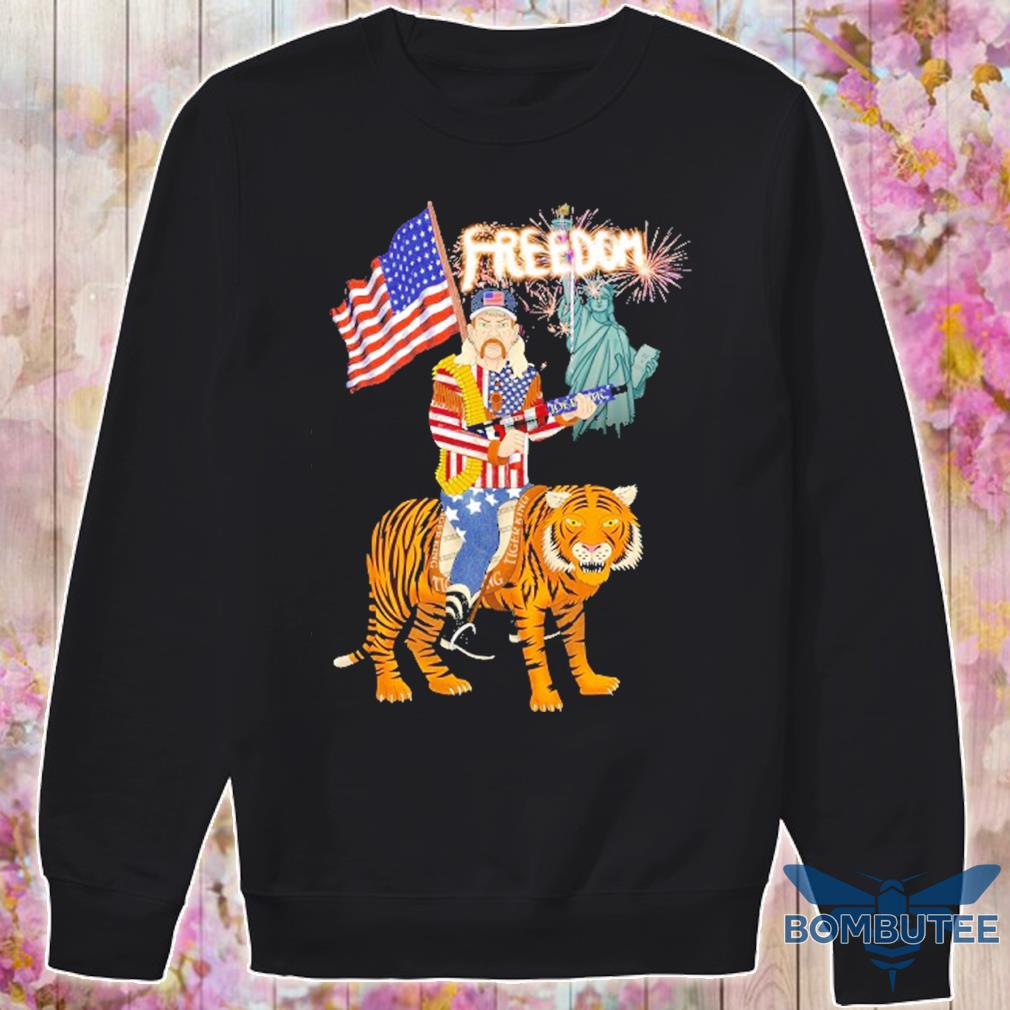 Joe Exotic tiger king freedom american Flag Day s -sweater