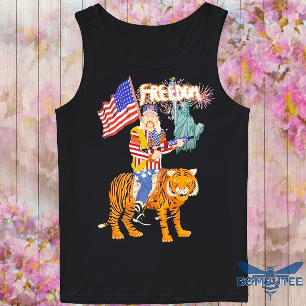 Joe Exotic tiger king freedom american Flag Day s -tank top
