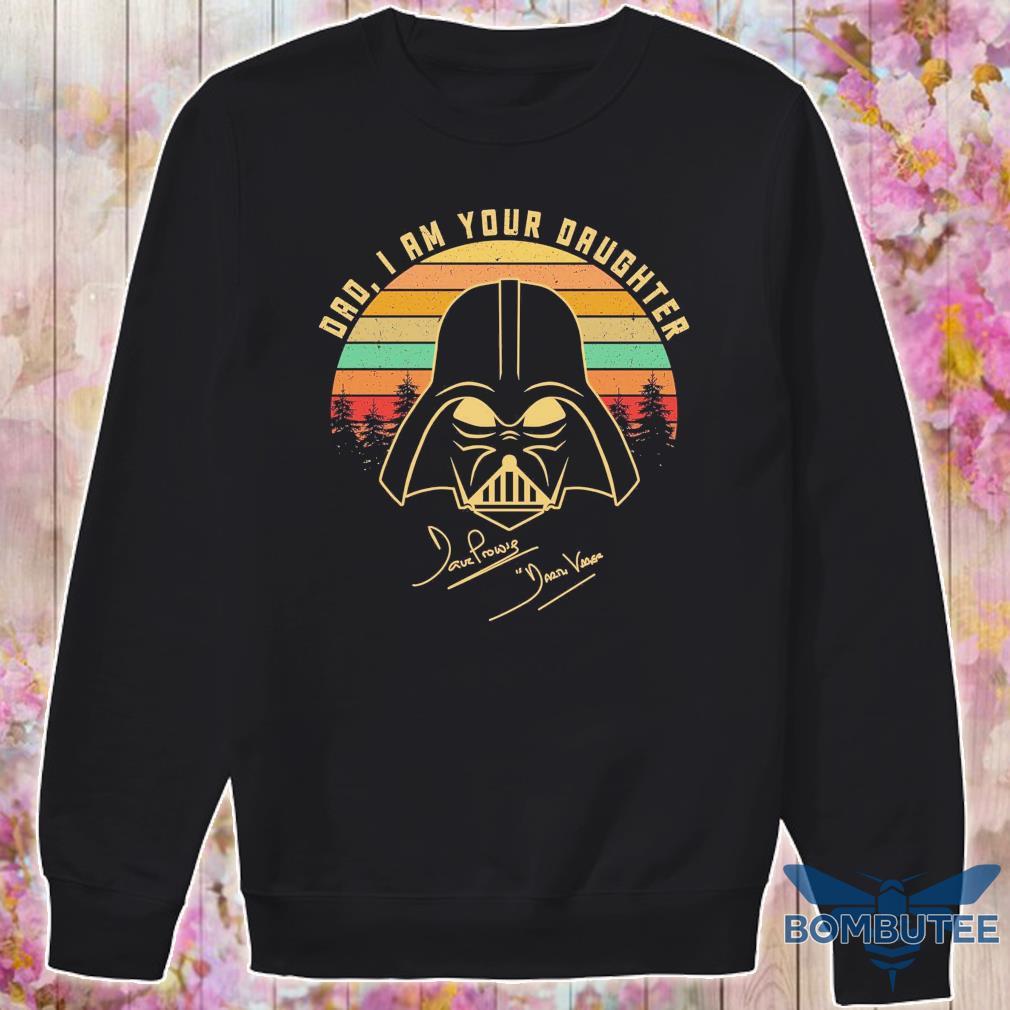 Mandalorian Dad i am your daughter signatures vintage s -sweater