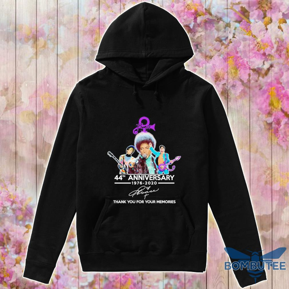 Prince 44th anniversary 1976 2020 thank you for your memories signature s -hoodie